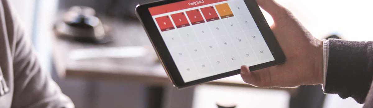 Tabletilla sähköinen kalenteri